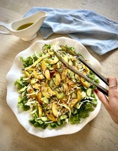 salade de pêches